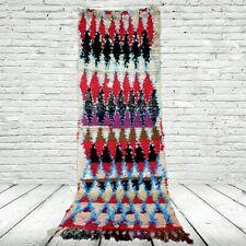 moroccan handweven beni ourain rug kilim 3'6''x7'2'' runner handmade antique