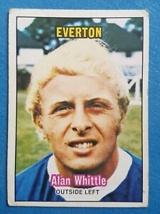 A & BC Football Card 1970. Alan Whittle Everton Orange Back No. 150