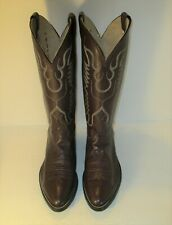 NOCONA Style 8011 Brown Leather Slip On Cowboy Western Boots Size 8.5D
