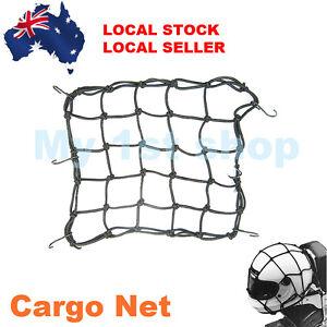 Universal Motorcycle Hold Down Helmet Cargo Luggage Mesh Net Bungee 6 Hook 40x40