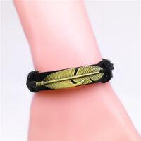 NEW Jewelry Fashion Men's Women Charm Leather Bracelet Bangle Punk Style R21
