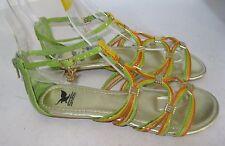 Summer Green/Multi Womens Shoes Roman Gladiator Flat Sandals Size 6