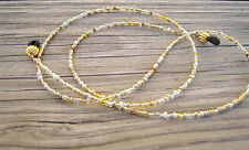Silver Gold Seed Beads Eyeglass Sunglass Chain Holder Beaded Lanyard Necklace