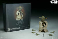 SIDESHOW COLLECTIBLES STAR WARS DISNEY HOT TOYS YODA 1/6 SCALE ACTION FIGURE