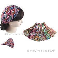 6pcs Women Aztec Bandana Turban Head Wrap Headband  Hair Band Workout Yoga Lots
