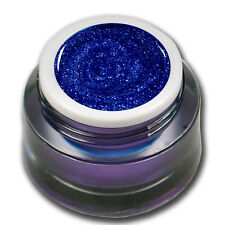 Premium Glitter Farb UV Gel Blau Nageldesign 5ml  #00562-14