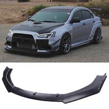 For Mitsubishi Lancer Evolution 3pcs Front Bumper Lip Splitter Spoiler Body Kit Fits 2008 Mitsubishi Lancer