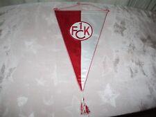 """1.FC Kaiserslautern Original gestickter Wimpel ca.32x22 """"1.FCK WAPPEN 1976"""" Neu"""