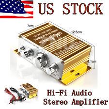 12V Mini 2CH Hi-Fi Audio Stereo Amplifier for BWM Benz Car Boat MP3 DVD Ipod Bar