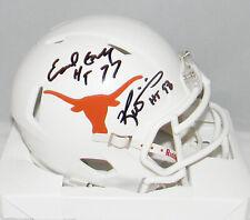 Earl Campbell Ricky Williams Signed Texas Longhorns Heisman Speed Mini Helmet