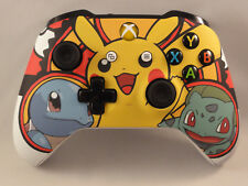 Xbox One S Pokemon Pikachu Wireless Controller - Yellow LED Rapid fire - Modded
