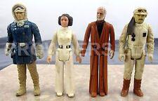 Vintage Star Wars Princess Leia Obi Wan Kenobi Hoth Han Solo & Rebel Commander
