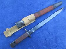 ORIGINAL BRITISH INDIA PATTERN MILITARY POLICE BAYONET SCABBARD AND FROG