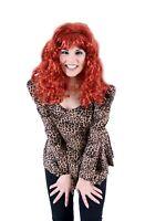 Women's Auburn Trailer Park Peggy Red Costume Wig