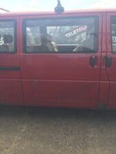 VOLKSWAGEN CARAVELLE T4 DRIVER SIDE SLIDING O/S DOOR  IN RED 1995-2003