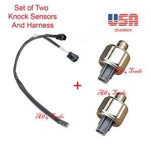 2 KNOCK SENSOR WITH HARNESS Fit: 3.4L V6 ONLY for TOYOTA 4RUNNER TACOMA TUNDRA