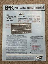 Vintage B&K Professional Service Equipment Catalog 1961 TV Test Equipment