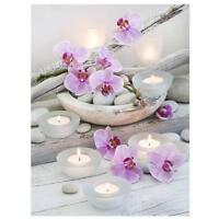 Flower Candle 5D Diamond DIY Painting Kit Cross Stitch Home Decor Craft TN2F