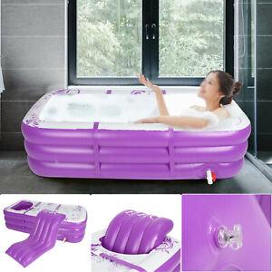 Inflatable Bath Tub Adult Portable SPA Warm Bathtub Blow Up Travel Bath Pool