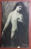 Tsarist Russia NU postcard 1909s goddess Nude woman Divine ANDROMEDA. Mythology