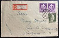 1942 Salzburg Germany Registered Cover To Vienna