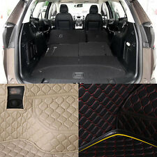 PU Leather Rear Trunk Cargo Liner Protector Mat Seat Back Cover For Ford Edge