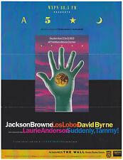 Jackson Browne Los Lobos David Byrne Laurie Anderson 1993 Concert Handbill