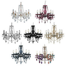 Searchlight Marie Therese Five Light Chandeliers - Various Colours