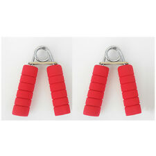 Foam Hand Grip Fitness  Exercise Wrist Arm Train Strength Builder 2 Pcs.Pack RED
