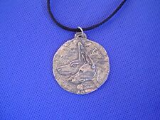 Anubis Pharaoh Hound Moon necklace #54F Egyptian jewelry by Cindy A. Conter
