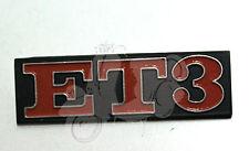Vespa Piaggio Emblem Heck ET3 Alu PV V50 50 90 SS schwarz orange
