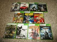 Lot of 11 Xbox 360 Games in Cases Borderlands Halo Batman Call of Duty +