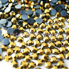 1000 GLASS HOTFIX IRON ON RHINESTONES HIGH QUALITY CRYSTAL GEMS BLING STONES