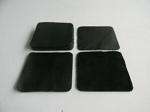 100mm (Coaster Size)  Black Leather Repair/Craft Patches- Various quantities