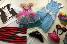 Lot Girls Sz 8-10 Disney Princess Dress Up Halloween Costume Gown