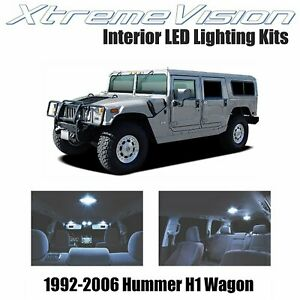 XtremeVision Interior LED for Hummer H1 Wagon 1992-2006 (14 PCS) Cool White