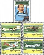 Kambodscha 1371-1375 (kompl.Ausg.) gestempelt 1993 Geburtstag A. Santos-Dumont