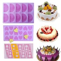Silicone Cake Decorating Mould Candy Cookies Chocolate Baking Mold Tool 7 Shapes