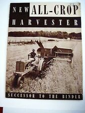 1937 Allis-Chalmers Mfg. Co. Information Booklet of Tractors & Farm Machines *