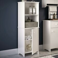 RiverRidge Medford Tall Cabinet with 1-Door and 2 Open Shelves, White