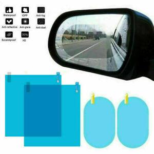 4Pcs Car Rearview Mirror Rainproof Anti-fog Sticker Protective Film Rain Shield