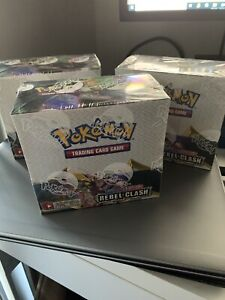 3x Booster Box Rebel Clash - Sworld & Shield - Pokemon cards SEALED