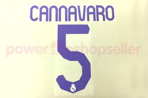 Real Madrid 2007/2008 #5 CANNAVARO Homekit Nameset Printing