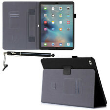 Apple iPad Pro 12.9 Inch Slim Black Leather Cover Case Stand and Stylus Pen
