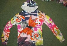 BNWT BOHO LIGHT WT  BUTTERFLY HOODIE HIPPY 60,S RETRO  S/M OR M/L  AVALIABLE
