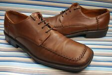 ROBERT WAYNE BROWN MOC TOE LEATHER OXFORD LACE UP MENS SHOES 9