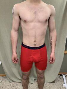 Hanes Men's Red - Blue Band Boxer Briefs Comfort Flex Size Medium
