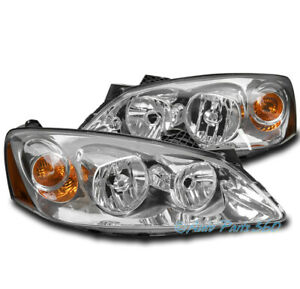 FOR 05-10 PONTIAC G6 GT REPLACEMENT HEADLIGHTS HEADLAMPS LAMP CHROME 06 07 08 09