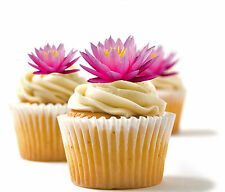 ✿ 24 Edible Rice Paper Cup Cake Topper, decorations - Waterlily ✿