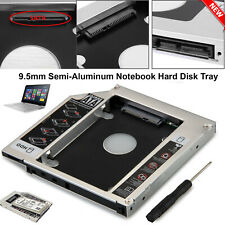 SATA 2ND HDD SSD HARD DRIVE CADDY CASE FOR 9.5MM UNIVERSAL CD DVD-ROM LAPTOP